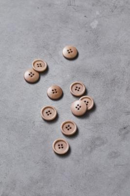 Dish Corozo Button 20 mm - Warm Sand