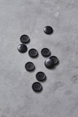Dish Corozo Button 20 mm - Black