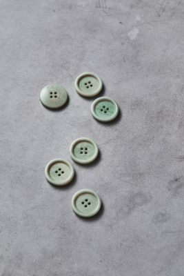 Dish Corozo Button 25 mm - Soft Mint
