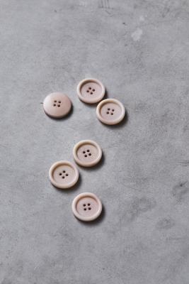 Dish Corozo Button 25 mm - Powder Pink