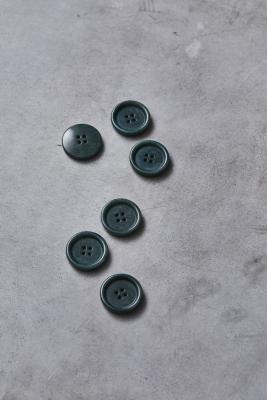 Dish Corozo Button 25 mm - Emerald