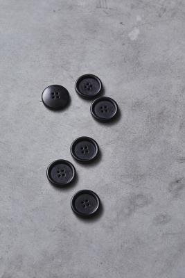 Dish Corozo Button 25 mm - Black