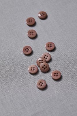Plain Corozo Button 11 mm - Old Rose