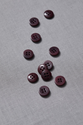 Plain Corozo Button 11 mm - Maroon