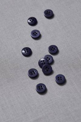 Plain Corozo Button 11 mm - Blueberry