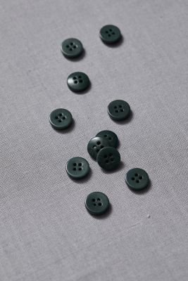Plain Corozo Button 11 mm - Deep Green