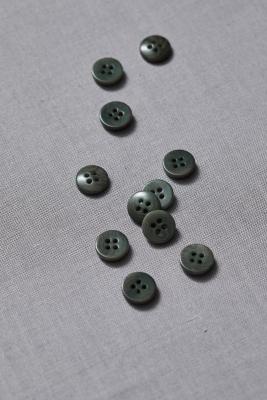 Plain Corozo Button 11 mm - Moss