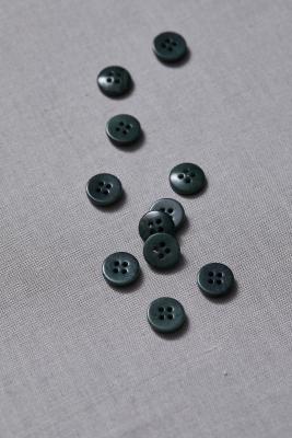Plain Corozo Button 11 mm - Emerald