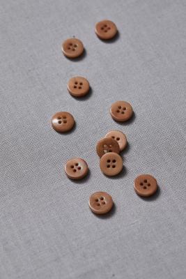 Plain Corozo Button 11 mm - Mustard