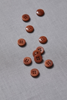 Plain Corozo Button 11 mm - Rust