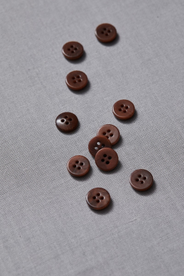 Plain Corozo Button 11 mm - Pecan