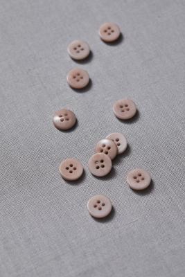 Plain Corozo Button 11 mm - Powder Pink