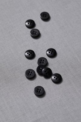 Plain Corozo Button 11 mm - Black
