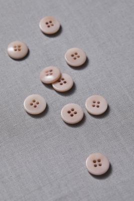 Plain Corozo Button 15 mm - Powder Pink