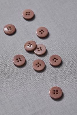 Plain Corozo Button 15 mm - Old Rose