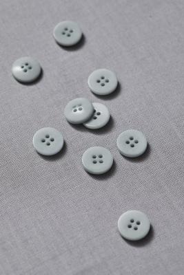Plain Corozo Button 15 mm - Blue Mist