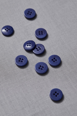 Plain Corozo Button 15 mm - Lapis