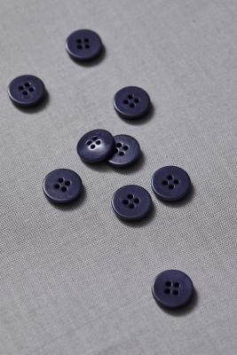 Plain Corozo Button 15 mm - Blueberry