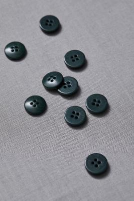 Plain Corozo Button 15 mm - Emerald