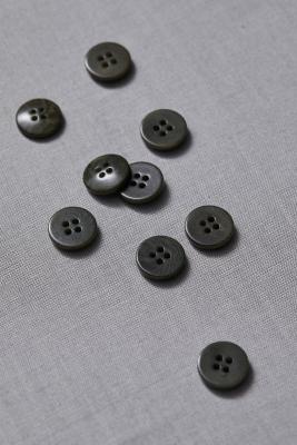 Plain Corozo Button 15 mm - Khaki