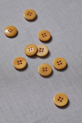 Plain Corozo Button 15 mm - Amber