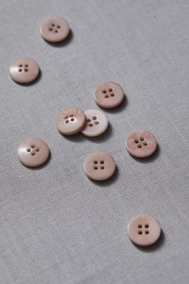 Plain Corozo Button 15 mm - Warm Sand