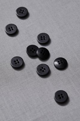 Plain Corozo Button 15 mm - Black