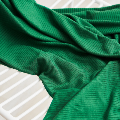 REMNANT 65x140 // Derby Ribbed Jersey - Frog