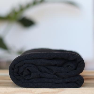 AFKLIP 35x140 // Fine Rib Jersey - Black