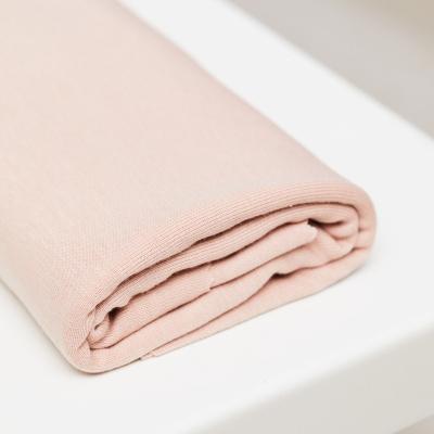 Fine Rib Jersey - Powder Pink