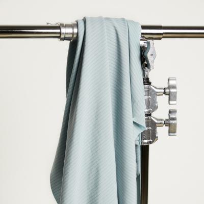 REMNANT110x150 // Two-tone Slim Stripe - Blue Mist