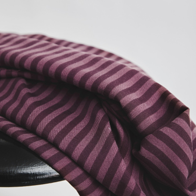 Two-Tone Stripe Twill - Maroon