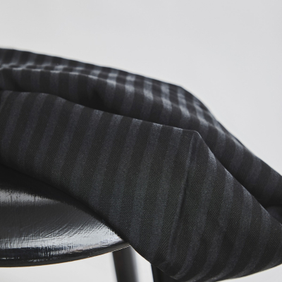 Two-Tone Stripe Twill - Black