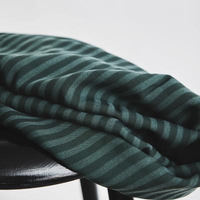 REMNANT 70x140 // Two-Tone Stripe Twill - Deep Green