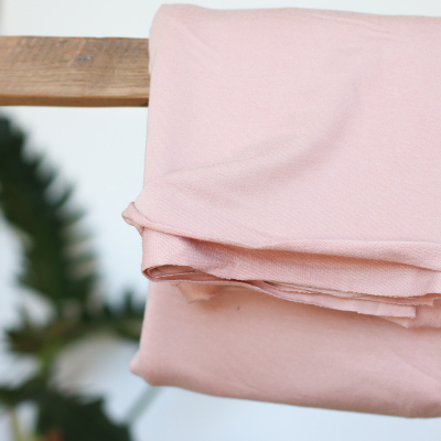 REMNANT 65x150 // Light Terry Sweat - Powder Pink