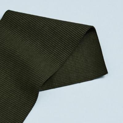 Organic 2x1 Rib - Green Khaki