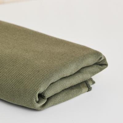 Linen/Cotton Twill - Olive Green
