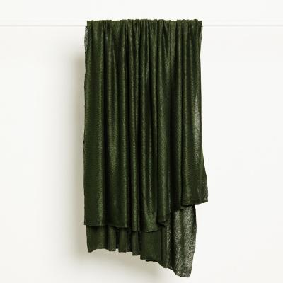 REMNANT 50x140 // Fine Linen Knit - Green Khaki