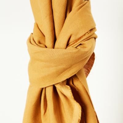 Nisa Softened Linen - Dry Mustard