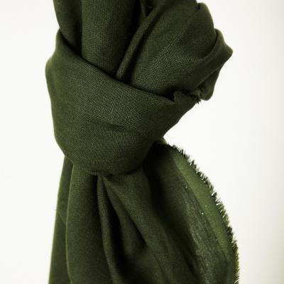 REMNANT 95x140 // Nisa Softened Linen - Green Khaki
