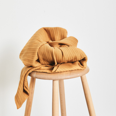 Organic Selanik Knit - Dry Mustard