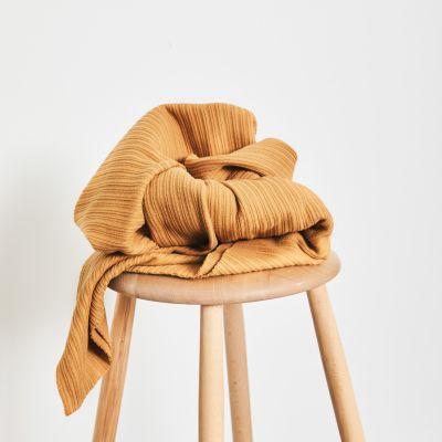 AFKLIP 35x180 // Organic Selanik Knit - Dry Mustard