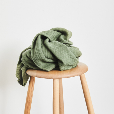 Organic Selanik Knit - Olive Green