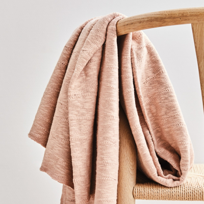 AFKLIP 35x120 // Organic Slub Jacquard Knit - Rose
