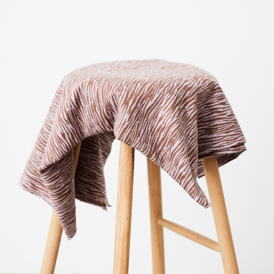 Organic Bark Jacquard - Dusty Brown/Lilac