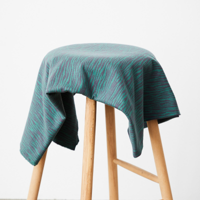Organic Bark Jacquard - Calm Grey/Chalky Green