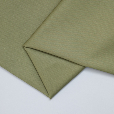Organic Cotton Stretch Twill - Olive Green