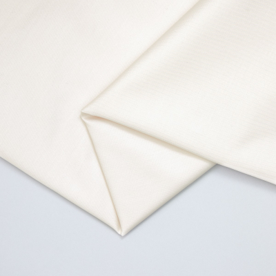 Organic Cotton Stretch Twill - Creamy White