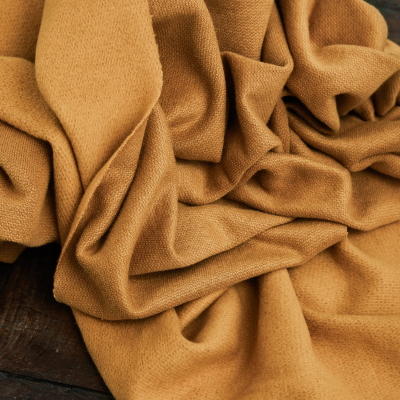 Organic Woolen Fleece Sweat - Dry Mustard