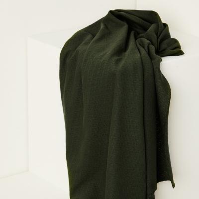 Organic Gem Pointelle - Green Khaki